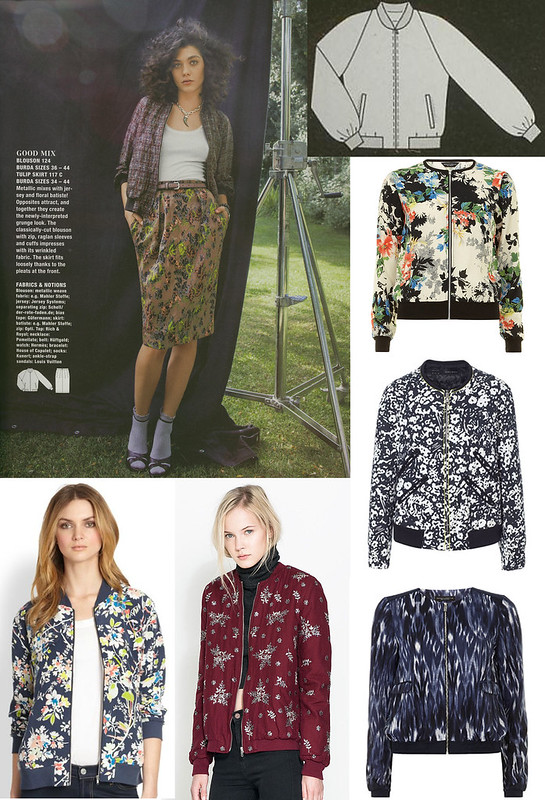 Burda-March-2014 Bomber Jacket Inspiration