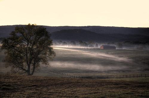 mist festival fog barn sunrise fence virginia long branch balloon meadow historic pasture shenandoah hdr redbarn morningpastures morningpasture