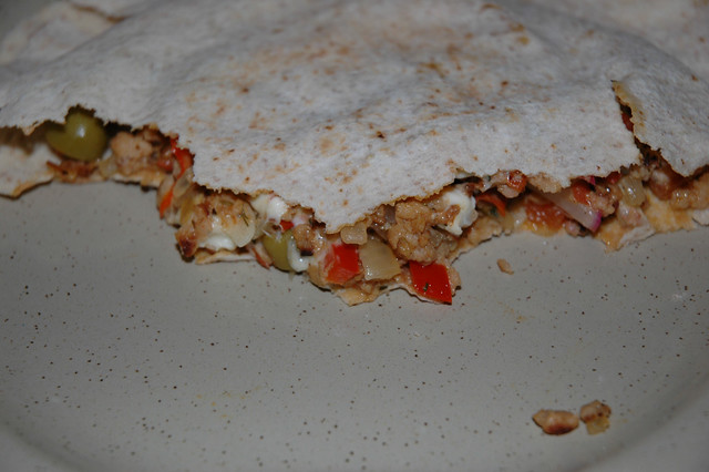Pita bread with filling | I never did this before so I ...