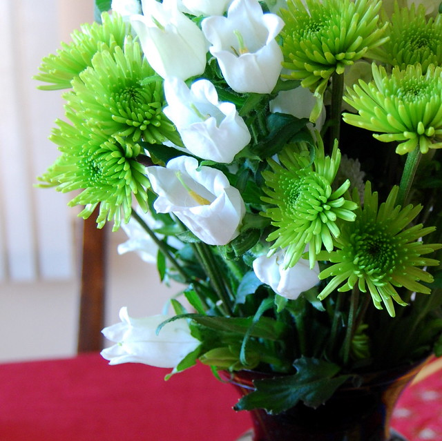Flowers on the dining room table flickr photo sharing - Flowers for dining room table ...