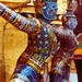 Thailand - Bangkok - Grand Palace  - Colourful statues