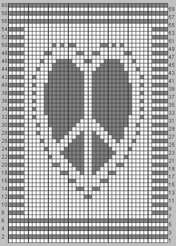 Knitting Heart Chart : Knit a little more may you find peace in your heart chart