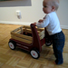 Ollie walks with his wagon