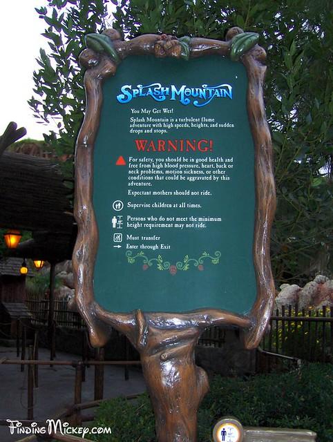 Splash Mountain Sign - Hidden Mickey | Splash Mountain ...