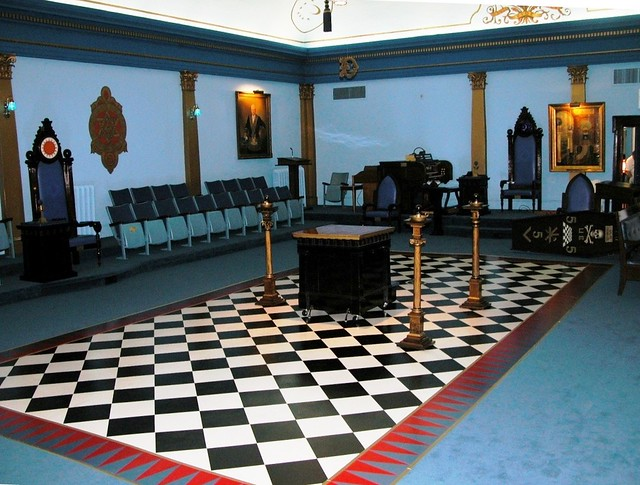 Temple maçonnique de l'ouest de Toronto situé au 151, rue Annette, à Toronto, en Ontario, au Canada, siège de l'University Lodge 496