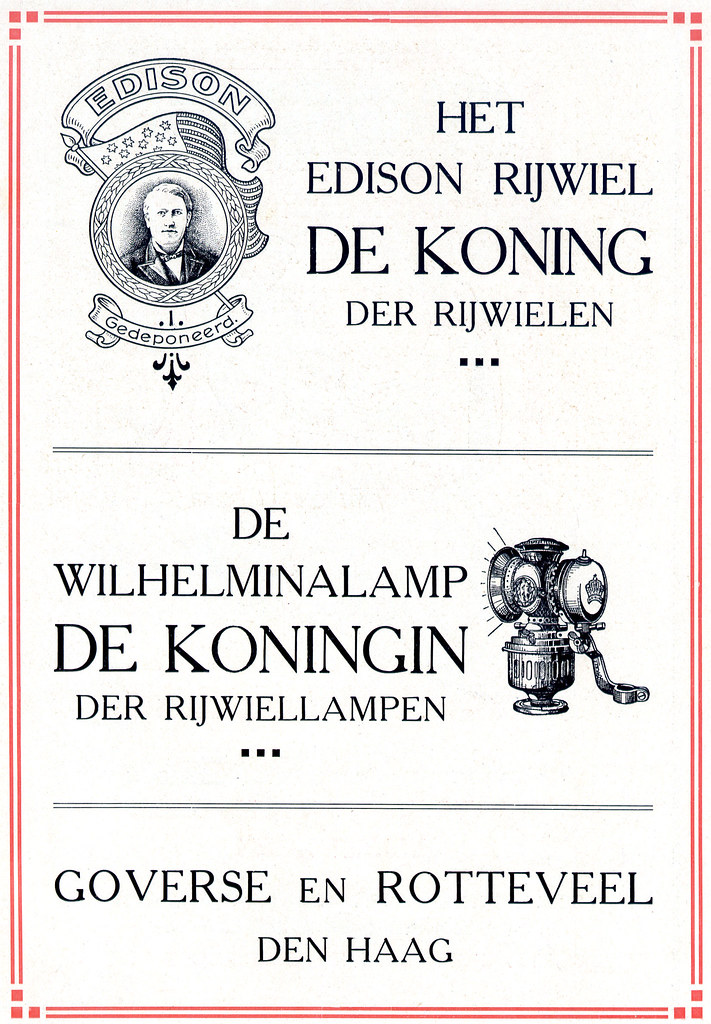 Dutch Bicycle History: Edison Rijwielen +  Wilhelmina Rijwiellampen