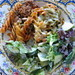 pasta bake and salad