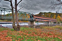 Harpersfield Covered Bridge HDR