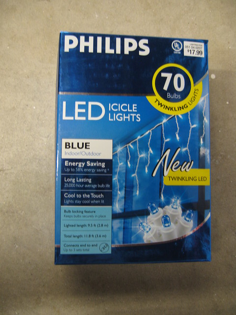 twinkling led icicle christmas lights by philips a photo on. Black Bedroom Furniture Sets. Home Design Ideas