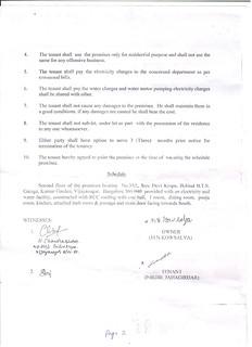 A rental agreement.