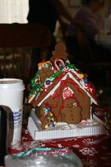 gingerbread house, cake, sweetness, gingerbread, food, icing, christmas,