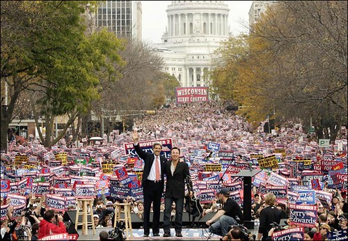 Bruce Springsteen concert rally for Kerry-Edwards ticket in Madison, Wisconsin, October 2004