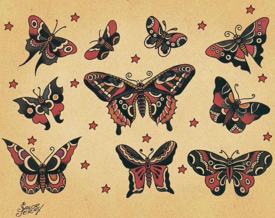 Sailor Jerry butterflies | Flickr - Photo Sharing!