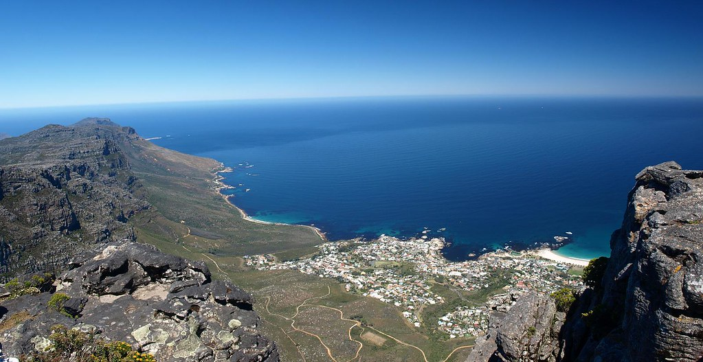 On the top of the Table Mountain (looking South West)