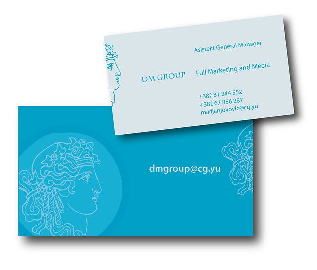 logo and bussines card dm group / front and back/