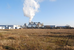 prairie, industry, power station, nuclear power plant,