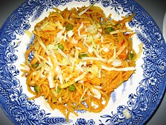 coleslaw(0.0), produce(0.0), vegetable(1.0), spaghetti(1.0), food(1.0), dish(1.0), cuisine(1.0),