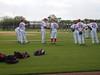 Pitchers taking fielding practice by khudak11