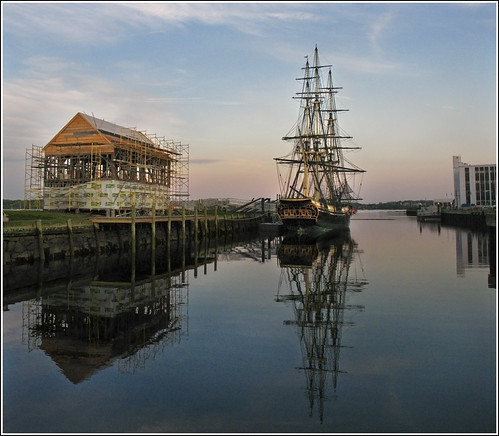 evening friendship dusk massachusetts calm northshore salem tallship underconstruction derbywharf eastindiaman canona630 119highestinexploreon51709