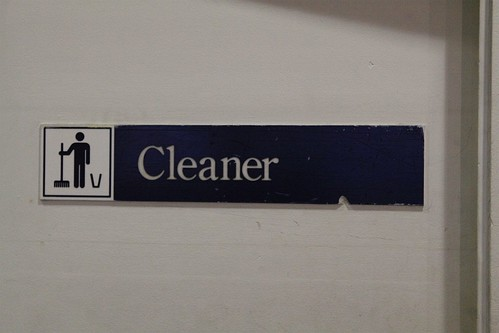 Ansett Australia branded 'Cleaner' sign in their former terminal