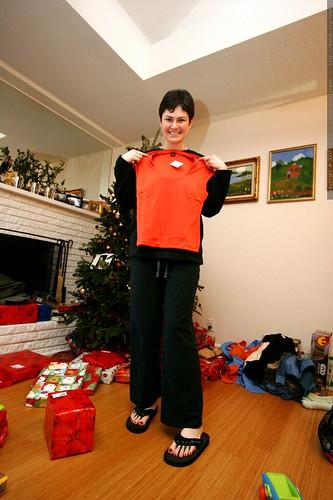 rachel and a new orange shirt    MG 7671
