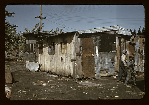 Shacks of Negro migratory workers, Belle Glade, Fla. (LOC)