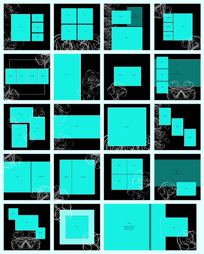 la bonne vie templates album template sets. Black Bedroom Furniture Sets. Home Design Ideas