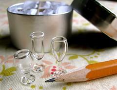 teeny tiny wine glasses