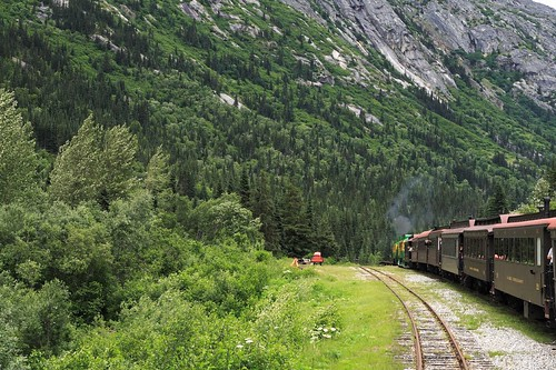 Skagway Train into the mountains