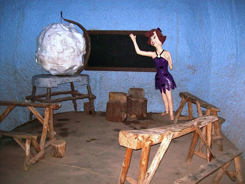 Inside the schoolhouse at Bedrock City, AZ - bedrock36x