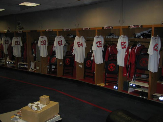 Red Sox Locker Room