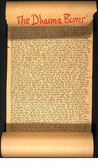 Kerouac's Dharma Bums manuscript scroll