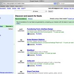 Just discovered Google Reader