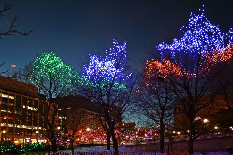 Christmas Lights Confederation Park Ottawa Canada A