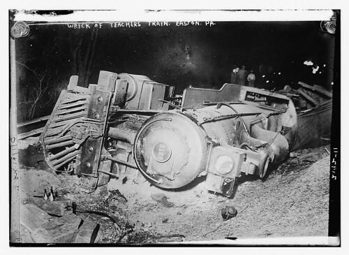 Wreck of teachers train (LOC)