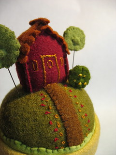 pin cushion detail