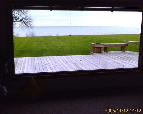 Racine lake house window
