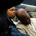 Sleeping subway couple