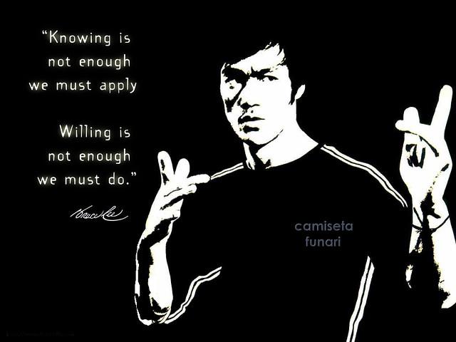 Filme de luta é com Bruce Lee