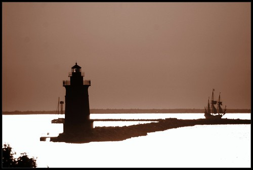 ocean park sunset lighthouse beach sepia bay ship state sail cape delaware lewes rehobothbeach breakwater henlopen views50 views25