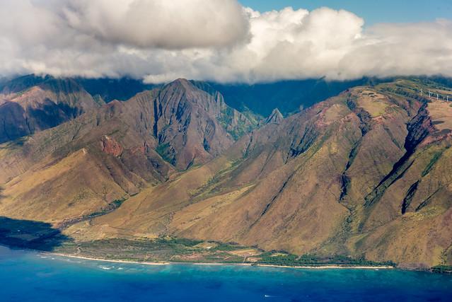 The Flight Above the Island of Maui, Hawaii, USA