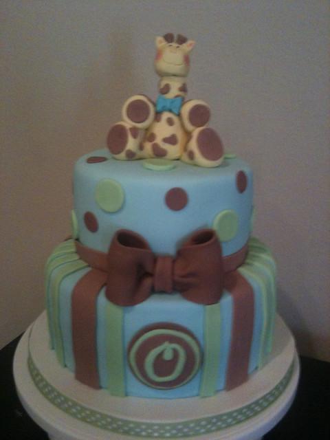 giraffe baby shower cake flickr photo sharing