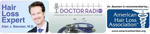 Tune in to NYU Doctor Radio, SiriusXM-81 for Hair Loss Q+A