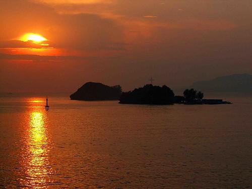 sun sunrise indonesia solar harbour papua breathtaking westpapua irja hollandia pacifique oceanie numbay jayapura irian irianjaya papuabarat papouasie aplusphoto nouvelleguinee