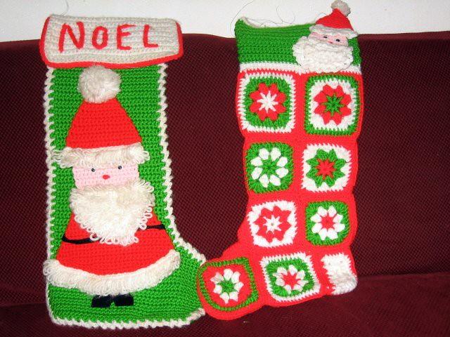 Crochet...Christmas stockings