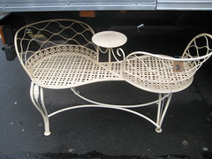 outdoor furniture, furniture, metal, chair,