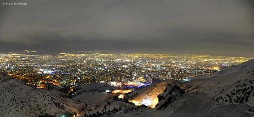 تهران شب برف نیکون کوه توچال tehran night snow nikon