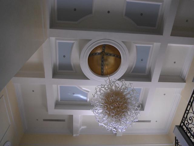 Ceiling dome in gold, Fujifilm FinePix XP20