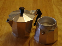 Italian Coffee Maker Reviews : How To Brew Italian Coffee Using a ?Moka Express? Stove Top Coffee Maker Cooking Help