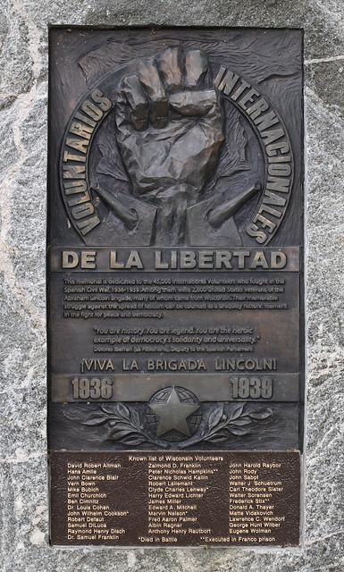 Abraham Lincoln Brigade Monument Detail Flickr Photo Sharing